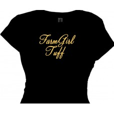 Farm Girl Tuff | Girls Country Cowgirl Tee Shirt